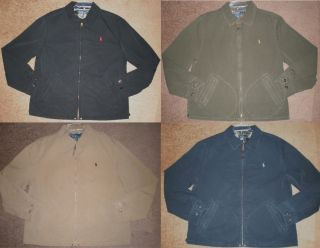 New Mens Polo Ralph Lauren Jacket Coat Full Zip Size M L XL XXL Navy