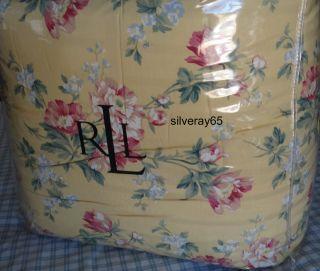 Ralph Lauren PARSONAGE LANE FLORAL Yellow Pink Red 4 pc King Comforter