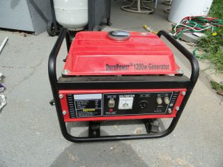 Duro Power 1200W Generator 4 Cycle Great for Camping