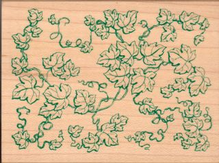 Ivy Leaf Pattern Mounted Rubber Stamp All Night Media