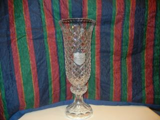 Lead Crystal Crown Royal Trophy Vase