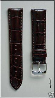 22mm Brown Genuine Leather Watch Band Strap w Speedpins