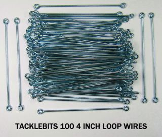 100 Longtail Lead Loop Wires Fishing Weight Making Eyes DCA Mould Mold