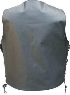 Motorcycle Vest Single Panel Leather Lined Gun Pocket