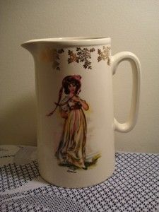 Lord Nelson Pottery Pinky Lawrence Tall Milk Jug