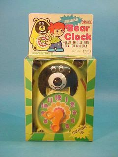 Educational Bear Clock Learn to Tell Time Box 1970S
