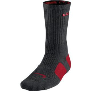 Nike LeBron James Dri Fit CREW ELITE Basketball Socks Black SX4696 062