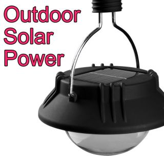 LED Lantern Solar Cell panel Camping Outdoor Lamp in battery Light