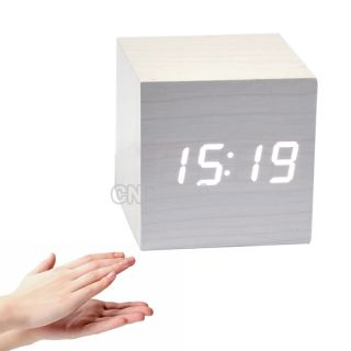 Digital LED Laser Time Rotating Projection Display Alam Clock White