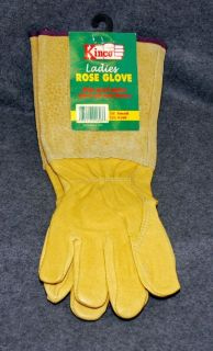 Garden Rose Gloves Long Protective Leather Womens Small