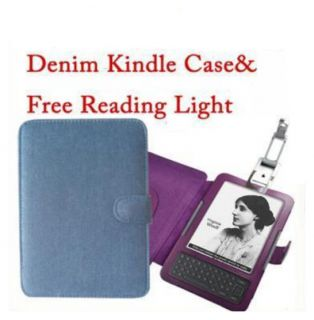 Leather Case Cover with Reading LED for  Kindle 3 3G WiFi Light
