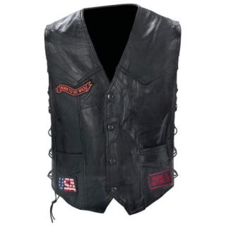 Buffalo Leather Motorcycle Biker Vest Gfvbike