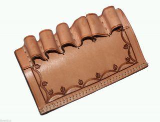 Shell Loop Holder Gun Holster Belt Natural Tooled Leather New