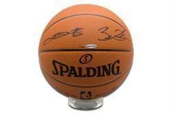 Lebron James and Dwayne Wade Dual Autographed Official NBA Basketball