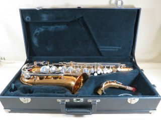 Student Alto Saxophone Sax Woodwind II Mouth Piece LeBlanc Hard Case
