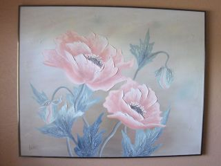 Lee Reynolds Huge Flowers Oil Painting Signed