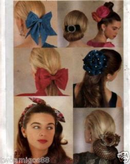 Sewing Pattern Hair Flower Bow Snood Hair Band