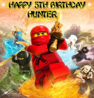 Lego Ninjago Ninjas Frosting Sheet Edible Cake Topper Image