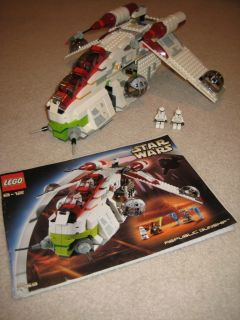 LEGO STAR WARS Republic Gunship Model 7163 with INSTRUCTIONS and MINI