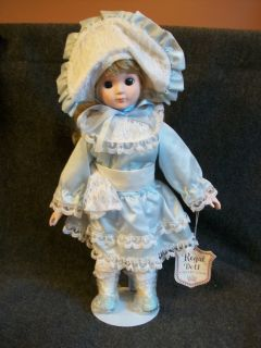 Regal Doll Collection 17 Porcelain Doll in Blue Dress