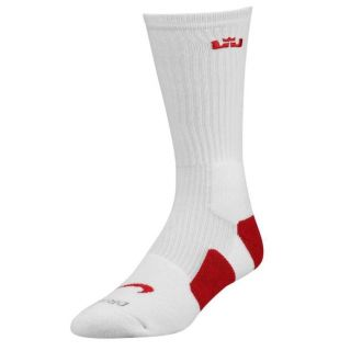 Free Shipping Worldwide Nike Lebron Elite Socks White Red 2 0 Miami