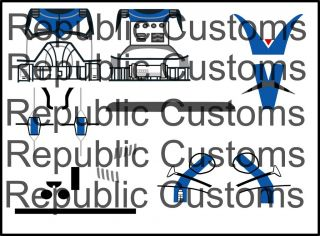 Lego Star Wars Custom Clone CW S4 501st Clone Trooper Dogma Decals
