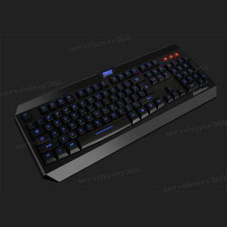 USB 2 0 Multi Media Blue LED Backlit Light Illuminated Keyboard for PC