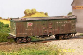 Lehigh Valley, LV,Weathered, 40 Foot Wood Reefer,Custom Built,Kds