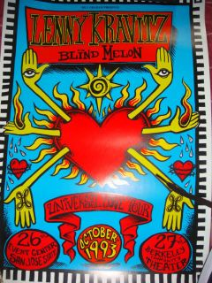 Lenny Kravitz and Blind Melon 1993 Universal Love Tour Poster