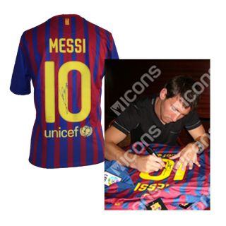 Leo Messi Signed Barcelona 2011 12 Home Shirt