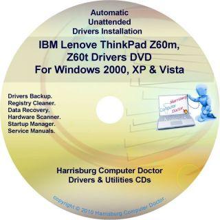 IBM Lenovo ThinkPad Z60 Drivers Recovery Disc CD DVD