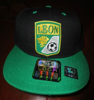 Leon Soccer Futbol National Team Hat Cap Tow tone Black Green Snap