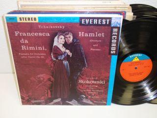 LEOPOLD STOKOWSKI Tchaikovsky Francesca Da Rimini/ Hamlet LP Everest