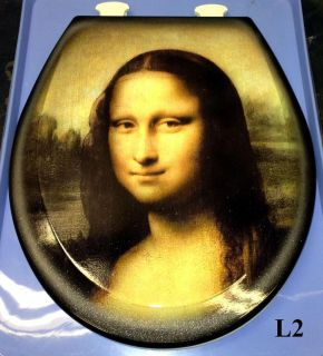 Custom Leonardo Da Vinci Design Airbrushed Toilet Seat Designer