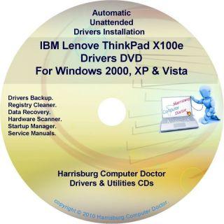 IBM Lenovo ThinkPad X100e Drivers Recovery Disc CD DVD