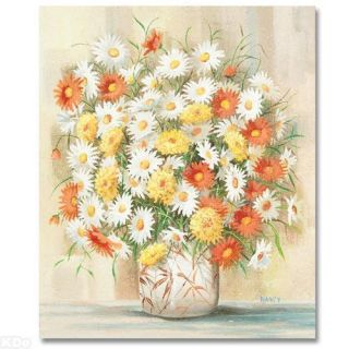 Leo Breslau Nancy  Colorful Bouquet  Original Painting on Canvas
