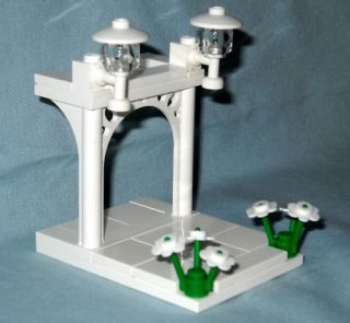 Lego Custom Wedding Arch for Bride Groom Cake Topper