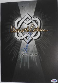 Leonard Cohen Signed Autographed 2009 Concert Tour Program PSA DNA