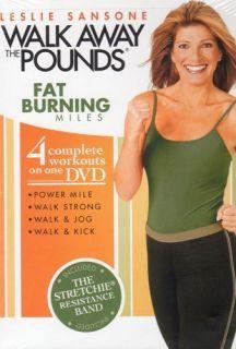 Leslie Sansone Fat Burning Miles 4 Workout DVD Set Band Walking at