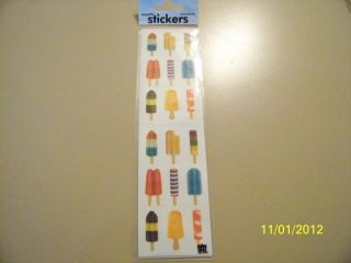 Paper House Popsicles Scrapbooking Stickers NIP