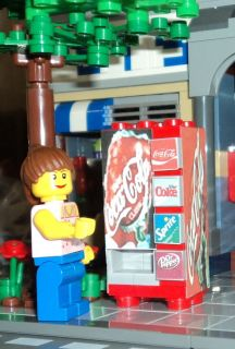 LEGO City Custom Town Train Coca Cola Vending Machine made from LEGO R