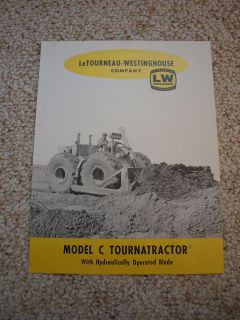 LeTourneau Westinghouse TournaTractor Model C Brochure 1960 Original