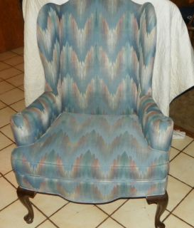 Vintage Ethan Allen Wingback Chair Armchair