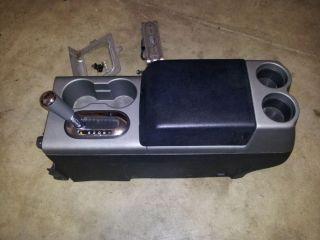 04 08 Ford F150 FX4 Center Console w Floor Gear Shifter Black Grey