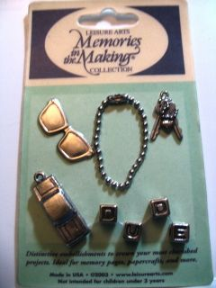 Leisure Arts Memories Making Collection Metal Embellishments New in