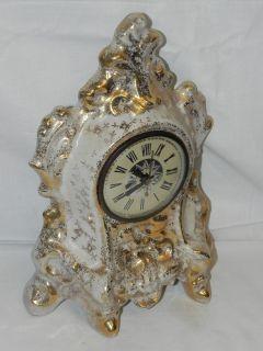 Vintage LeMieux China Victorian Style Electric Shelf Mantel Clock 22KT