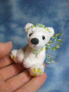 Bears Sale 3 Tiny Miniature OOAK Artist Fairy Bear Lemony