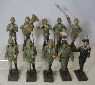 German Composition Soldiers WWII Elastolin Leyla