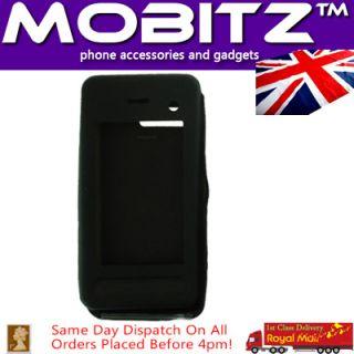 LG KF900 Prada 2 Black Silicone Rubber Case Skin Cover