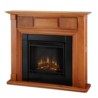 Real Flame Liberty Portable Electric Fireplace Heater OAK Free